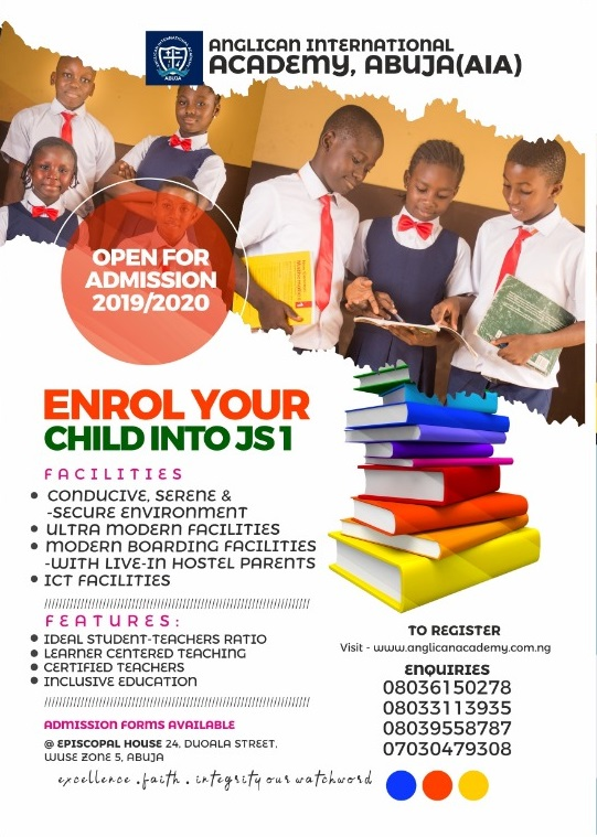 Admission For 2019/2020 Academic Session
